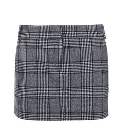 black multi alridge tweed mini skirt