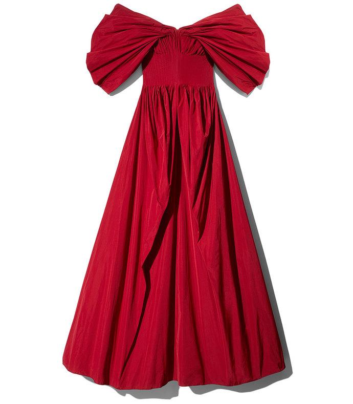 red dionne dress