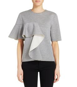 ShopBazaar Marni Gray Ruffle Sweatshirt FRONT