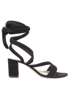 black lace up sandal