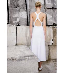 ShopBazaar Gabriela Hearst Oatmeal 'Emily Milano' Stitch Dress FRONT