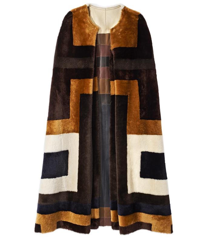 'mira' shearling reversible coat