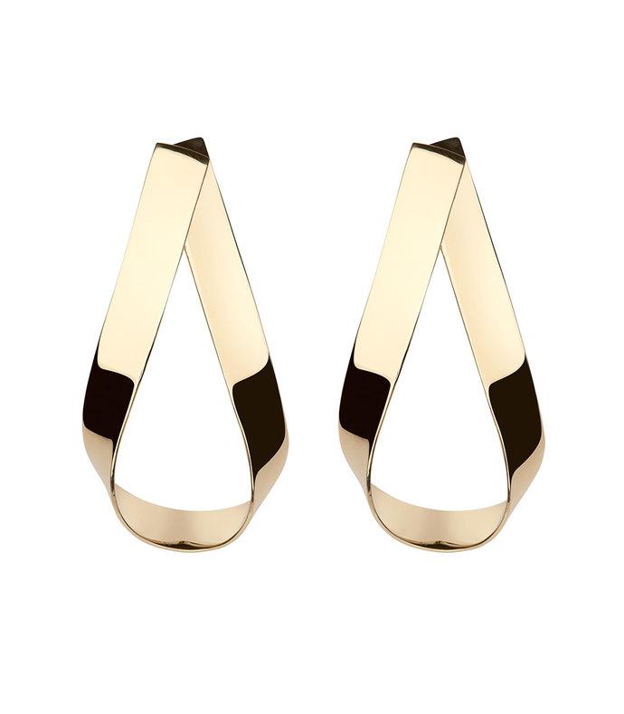 Gold Script Doorknocker Earrings Script Doorknocker Earrings-dup