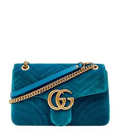 turquoise velvet bag