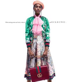ShopBazaar Gucci Silk Floral Bomber Jacket FRONT