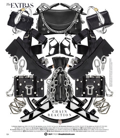 ShopBazaar Proenza Schouler Black 'Hava' Clutch FRONT