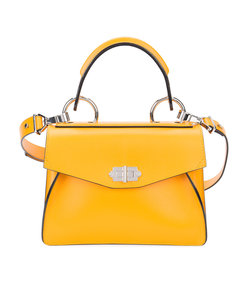 yellow 'hava' small leather tote bag