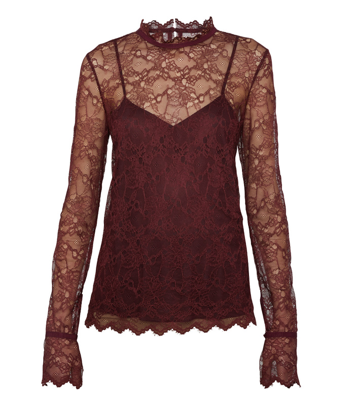 dark currant lace top