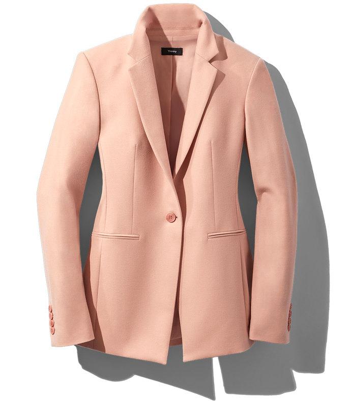 chalk pink power jacket
