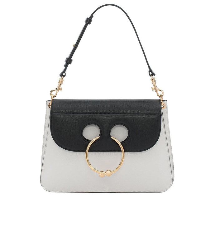 white & black 'pierce' bag
