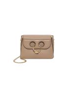 beige ash mini 'pierce' bag