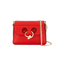 scarlet red mini pierce bag