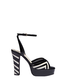 ShopBazaar Valentino Patent Chevron Sandal MAIN