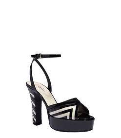 ShopBazaar Valentino Patent Chevron Sandal FRONT