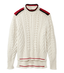 ecru 'edison' cable knit sweater