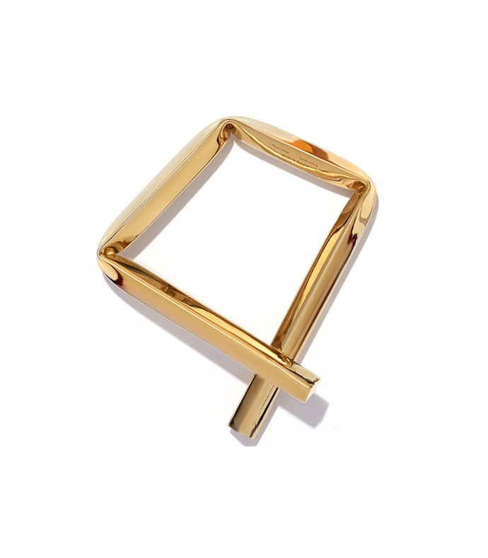 light gold small square bracelet