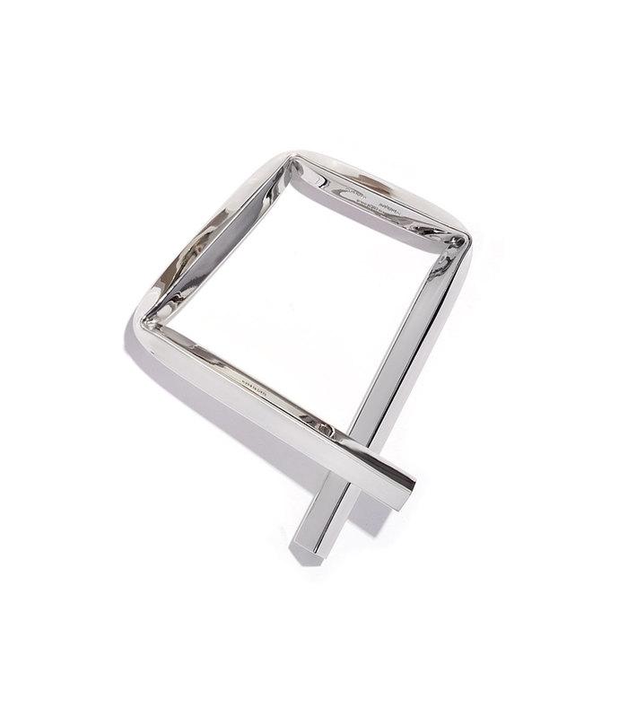 rhodium small square bracelet