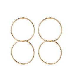 ShopBazaar Jennifer Fisher Interlocking Smooth Circle Earrings  MAIN