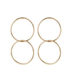 ShopBazaar Jennifer Fisher Interlocking Smooth Circle Earrings MAIN