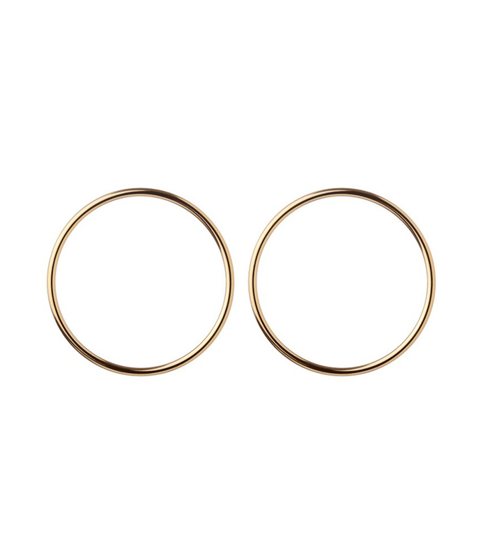 gold 'smooth circle' earrings