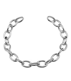 silver small chain link choker
