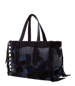 ShopBazaar Valentino C-Rockee Butterfly Fringe Tote FRONT