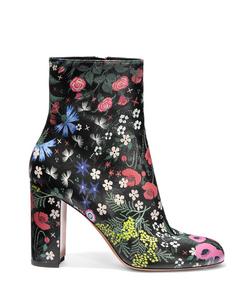 ShopBazaar Valentino Garden Print Ankle Boot MAIN
