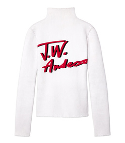 white logo jumper