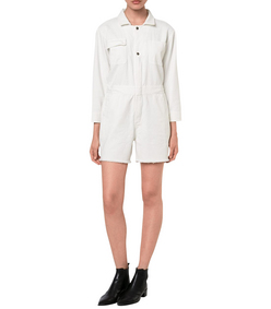 ShopBazaar Sea Button Down Romper FRONT
