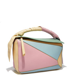 multicolor puzzle wrap bag