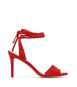 red 'elyse' ankle tie sandal