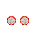 red 'spotlight' earrings