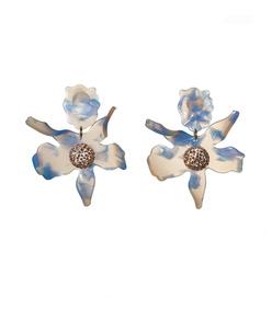 cloud sky crystal 'lily' earrings