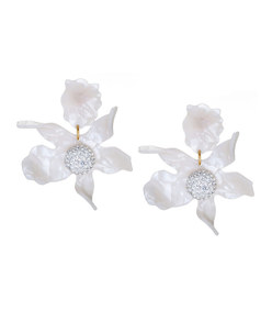 pearl crystal 'lily' earrings