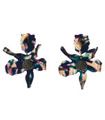 twilight crystal lily earrings