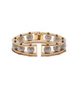 gold crystal hinged slider bracelet