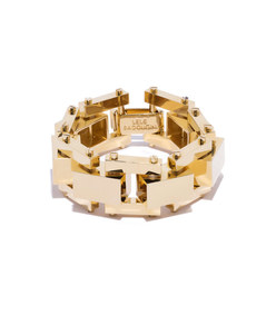 golden 'bedrock' bracelet