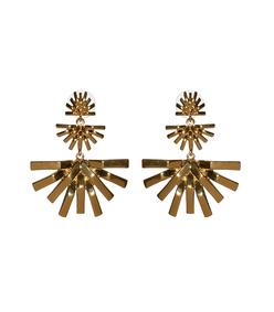 palm grass chandelier earring