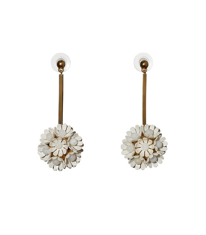 plumeria drop earring