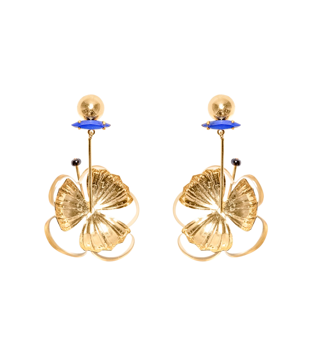 ShopBazaar Lizzie Fortunato Tahitian Flower Earrings MAIN