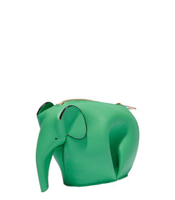 ShopBazaar Loewe Green Elephant Coin Purse FRONT