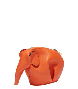 ShopBazaar Loewe Orange Elephant Coin Purse FRONT
