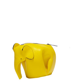 ShopBazaar Loewe Yellow Elephant Coin Purse FRONT