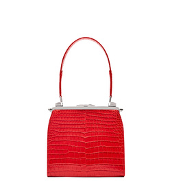 red crocodile metamorfosi handbag lined with viper