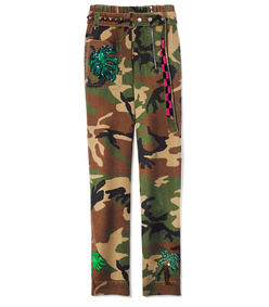 camo belted pant