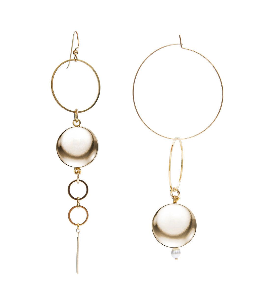 MOUNSER JEWELRY Gold Solar Earrings