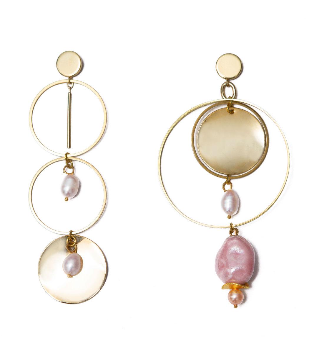 MOUNSER JEWELRY Gold Corona Earrings