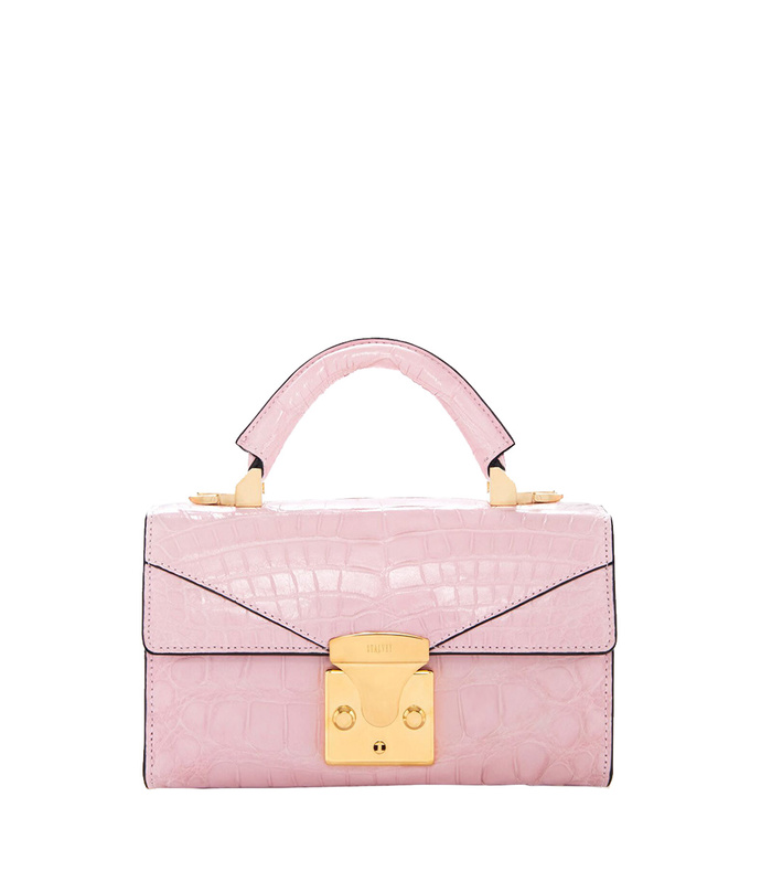 mini pink top handle bag
