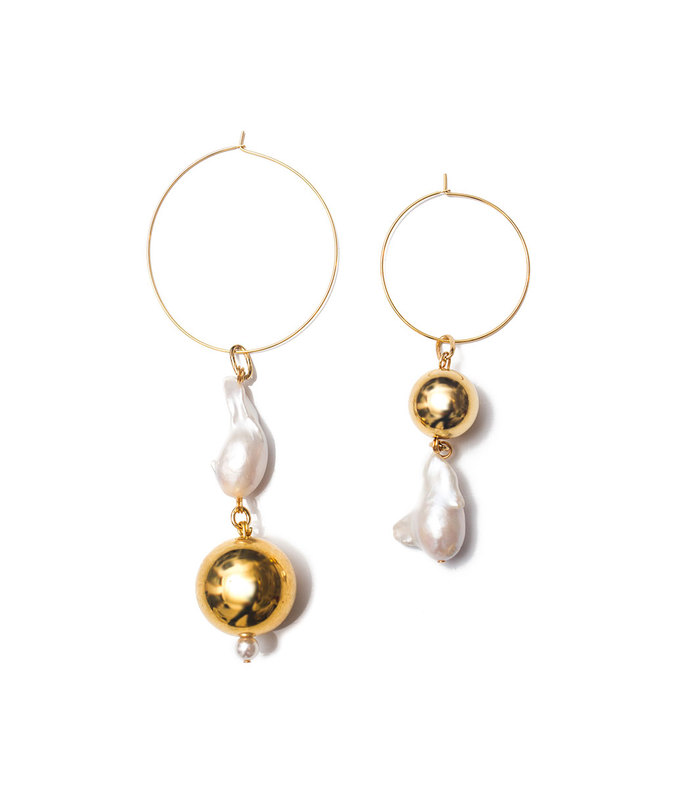 gold pagoda fruit earrings
