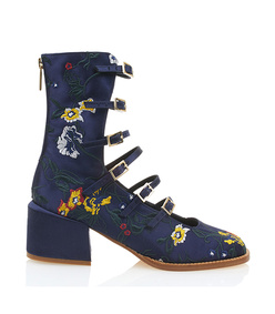 navy 'kai' buckle up boots